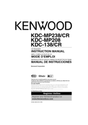 Kenwood KDC-138 Manuals