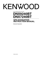 Kenwood DNX7240BT Manuals