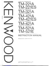 Kenwood TM-521A Manuals