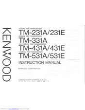 Kenwood TM-231A Manuals
