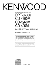 Kenwood CD-425M Manuals