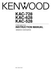 Kenwood KAC-628 Manuals