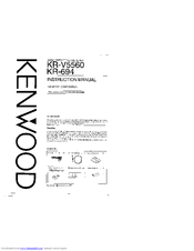 Kenwood KR-V5560 Manuals