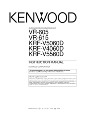Kenwood VR-605 Manuals