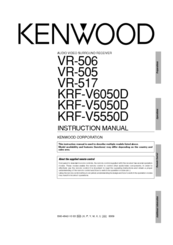 Kenwood VR-505 Manuals
