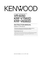 Kenwood VR-6050 Manuals