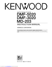 Kenwood DMF-3020 Manuals