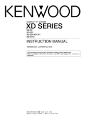 Kenwood XD-A3 Manuals