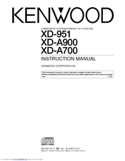 Kenwood XD-A700 Manuals
