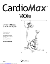 Keys Fitness CardioMax 700u Upright Manuals