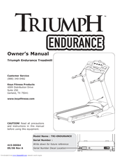 Keys Fitness TRI-ENDURANCE Manuals