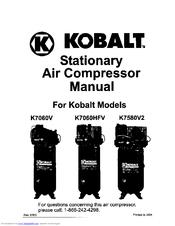 Kobalt K7060V Manuals