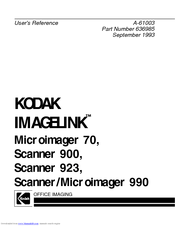Kodak IMAGELINK 900 Manuals