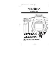 Minolta MAXXUM 3 Manuals
