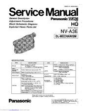 Panasonic NV-A3E Manuals