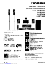 Panasonic SC-PT760 Manuals