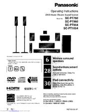 Panasonic SC-PT760 Manuals