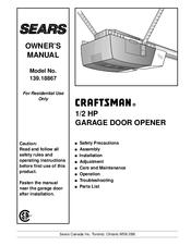 Craftsman 139.18867 Manuals