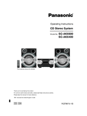 Panasonic SC-AKX400 Manuals