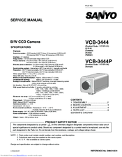 Sanyo VCB-3444P Manuals