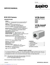Sanyo VCB-3444P Manuals