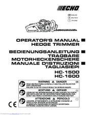 Echo HC-1600 Manuals
