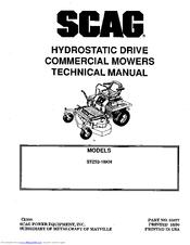 Scag Power Equipment STZ52-18KH Manuals