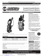 Campbell Hausfeld PW183501 Manuals