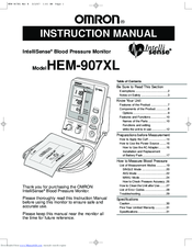 Omron IntelliSense HEM-907XL Manuals