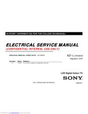 Sony AZ1-L CHASSIS Manuals