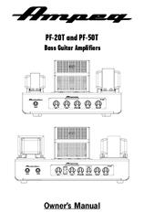 Ampeg PortaFlex PF-50T Manuals