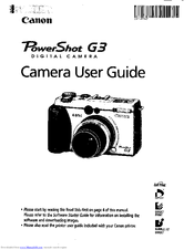 Canon PowerShot G3 Manuals