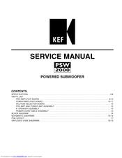 Kef PSW 2000 Manuals