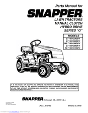 Snapper LT145H38GBV Manuals