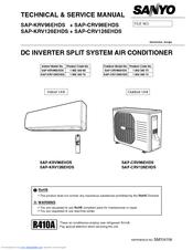 Sanyo SAPKRV126EHDS Manuals