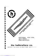 Hallicrafters SX-99 Manuals