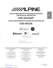 Alpine CDE-W235EBT Manuals