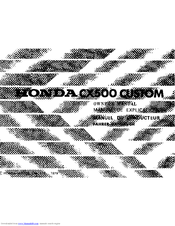 Honda CX500 CUSTOM Manuals