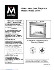 Majestic Fireplaces DV580 Manuals