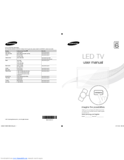 Samsung UA55D6000 Manuals