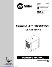 Miller Summit Arc 1250 Manuals