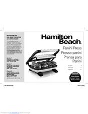 Hamilton Beach Panini Press Manuals