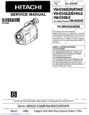 Hitachi VM-E340E Manuals