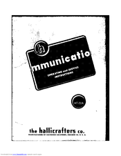 Hallicrafters HT-32A Manuals