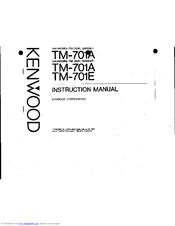 Kenwood TM-701E Manuals
