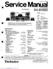 Technics SA-EH600 Manuals