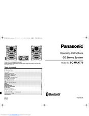 Panasonic SC-MAX770 Manuals