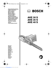 Bosch AKE 35 S Manuals