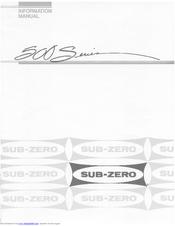Sub-zero 561 Manuals