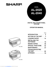 Sharp AL-2040 Manuals